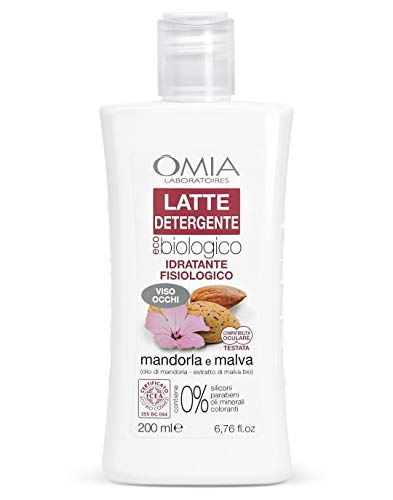 Lait de nettoyage aux amandes et à la mauve Omia, de...